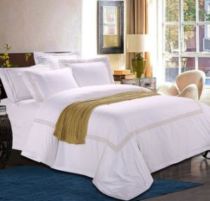100% Egyptian Combed Cotton Bed Sheets for Hotel (DPF1071002) pictures & photos