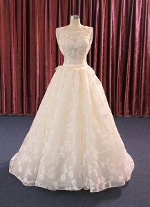 Spot Lace Top Sale Real Pictures Wedding Dress pictures & photos