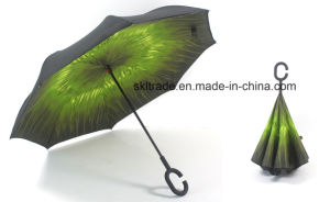 Hot Selling High Quality Portable Handsfree Straight Reverse Inverted Umbrella pictures & photos