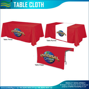 Custom Design Polyester Table Cloth (B-NF18F05022) pictures & photos