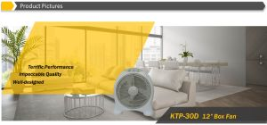 """12"""" Round Shape Box Fan with 2 Hours Timer pictures & photos"""