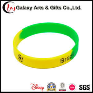 Segmented Screen Printed Wrist Band/Silicone Wristband/Rubber Wristband pictures & photos