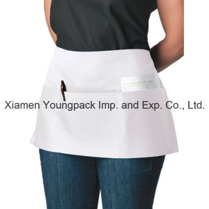 Fashion Custom Printed White 100% Cotton Waist Kitchen Apron pictures & photos