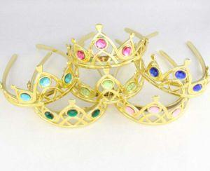 Woman Wedding Faux Rhinestone Silver Tone Tiara Crown Headband pictures & photos