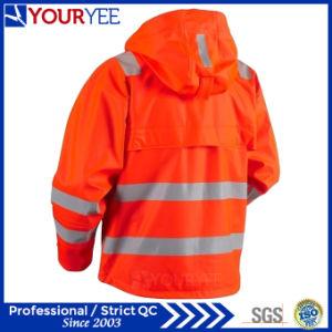 Heavy Weight Windbreaker Waterproof Reflective Hi Vis Rain Jacket (YFG114) pictures & photos