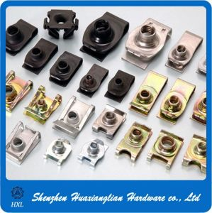 China Fasteners Manufacture Galvanized Steel M4 M5 M6 U Clip Nuts pictures & photos