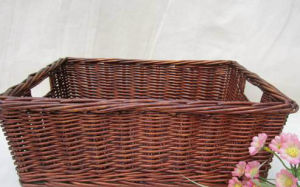 Most Popular, Eco-Friendly, Willow Handle Basket (BC-ST1214) pictures & photos