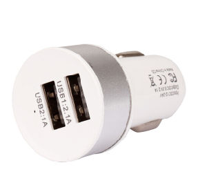Double USB Car Charger, Car Plug in Charger with Dual USB Port for Mobile Phone pictures & photos