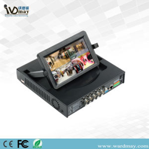 4 Channel 7inch CCTV LCD DVR Combo H. 264 Realtime Support Cvbs Output pictures & photos