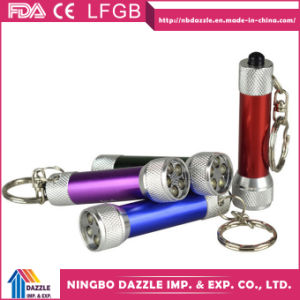 Cheap Promotional Gift Mini 5 LED Keyring Torch pictures & photos