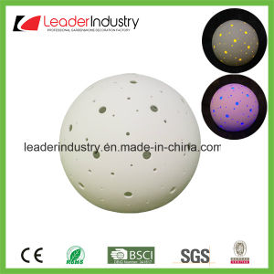 New White Ceramic Ball with Color Changing LED Light for Home Decoration pictures & photos
