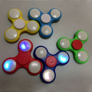 Hot Product Fingertip Top Fidget Spinner Toy with Light (H8185025) pictures & photos