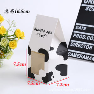 Custom Cardboard Plain White Food Packaging Paper Bakery Cake Box with Window pictures & photos