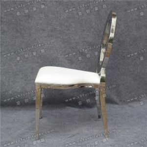 Silver Oval Back Hollow out Stainless Steel Infiniti Chair (YC-ZS48-1) pictures & photos