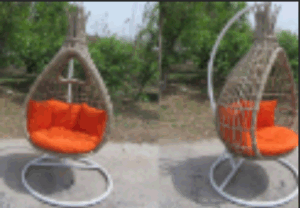 Outdoor Basket Rattan Swing Hanging Chair Balcony Chairs with Armrests-4 pictures & photos