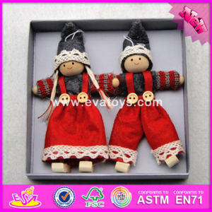 2017 New Products Lovely Characters Wooden Girls Christmas Toys W02A234 pictures & photos