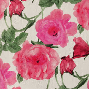 1.0mm Super Soft Flower Printed PU Leather for Handbags (A770) pictures & photos