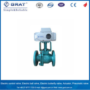 PTFE Lined Electric on/off Ball Valve for Naoh Solution pictures & photos