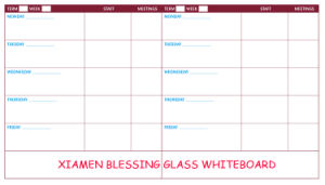 Yearly /Monthly/Weekly Magnetic Dry Erase Glass Calendar/Planner Board pictures & photos