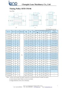 Htd3m Aluminum Drive Timing Pulley pictures & photos