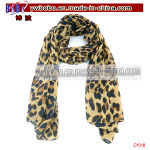 Ladies Large Printed Fashion Scarf Polyester Scarf Silk Scarf (C1018) pictures & photos