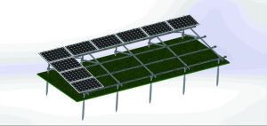China Manufacturer Steel Four Landscape Solar Mounting Structure pictures & photos