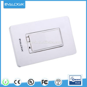 Zwave Decorative Wall Switch on/off White 15A for Smart Home Automation pictures & photos