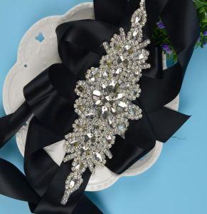 Floral Sparking Rhinestone Crystal Ribbon Wedding Bridal Belt pictures & photos
