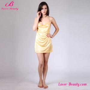Super Short Plus Size Seductive Front Ruffle Strap Dress pictures & photos