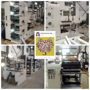 Ybs-320g/450g Label Flexo Printing Machine with Three Die-Cutting Stations pictures & photos