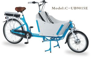 En15194 26 Inch 2 Wheel Steel Frame Dutch Electric Adult Cargo Bike pictures & photos