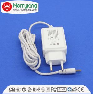 12V1a 12W EU Plug AC/DC Adapter White pictures & photos