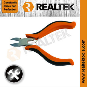 Nickel-Planted Mini Diagonal Cutting Pliers with Bi-Color Plastic Handles pictures & photos