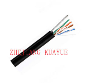 Outdoor Cable 4 Pair UTP Cat5e+1.2steel Wire /Communication Cable pictures & photos