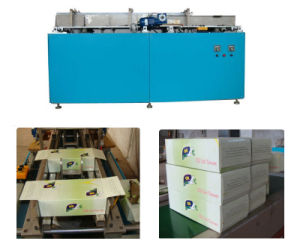 Manual Feeding Automatic Gluing Box Sealing Machine for Packing Facial Tissue Paper