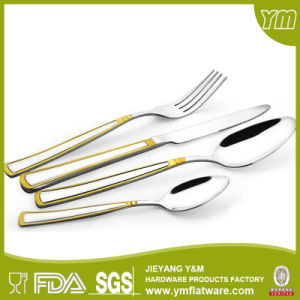 International Gold Plating Cutlery for Gift Promotion pictures & photos