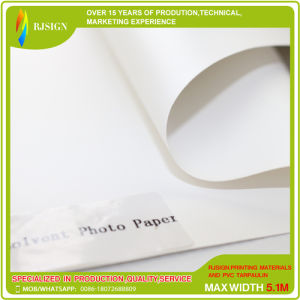 240GSM Matte Coated Solvent Photo Paper Roll, Waterproof Printing Photo Paper pictures & photos
