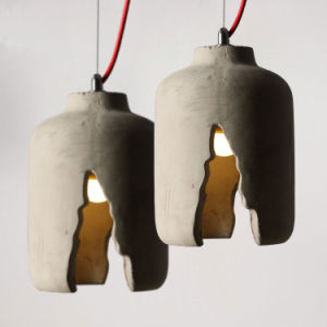 Nordic Fashion Cracked Desigin Concrete Pendant Light for Cafe /Restuarant pictures & photos