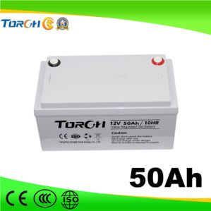 12V AGM Long Life 50ah Gel Battery for Solar Street Light System pictures & photos