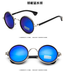 Women Vintage Round Brands Eyewear Designer Sunglasses pictures & photos
