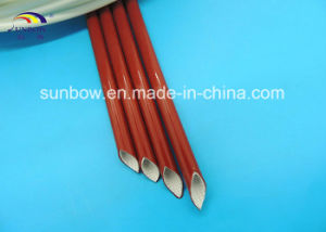 10.0kv Silicone Rubber Coated Fiberglass Sleeve pictures & photos