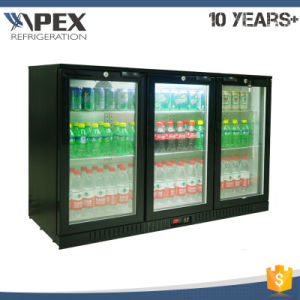 320L Three Swing Glass Door Back Bar Refrigerator Beer Chiller with Fan Assisted Cooling System pictures & photos