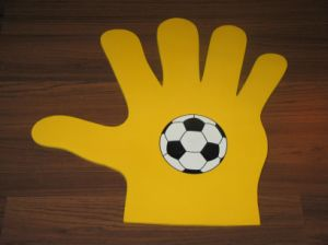 Five Fingers Foam Hand with Printing Customer′s Logo pictures & photos