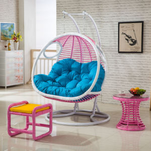 Double Seat Swing Room Swing Chair Luxury Outdoor Furniture (D155) pictures & photos