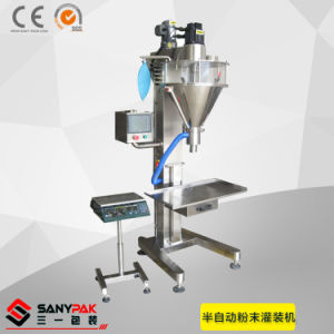 Coffee/Dry Spices/Coconut/Pepper Semi-Automatic Powder Filling Machine pictures & photos