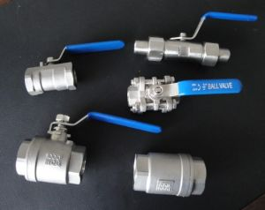 One Picecs 1000 Psi Threaded End Stainless Ball Valve for Gas Chemical pictures & photos