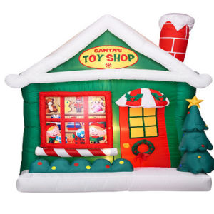 Indoor Christmas Holiday Products Inflatable Fabric Toy Shop pictures & photos