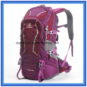 Hot Sale 40L Nylon Mountaineering Backpack, Outdoor Hiking Backpack Bag, Multi-Functional Custom Travel Climbing Backpack L