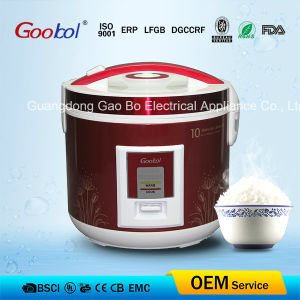 Red Colour Design Flower Housing Rice Cooker Nonstick Coating pictures & photos