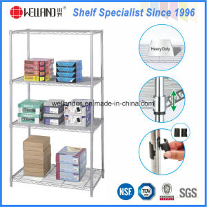 Hot Sale 4 Tiers Chrome Metal Wire Stationery Display Rack pictures & photos